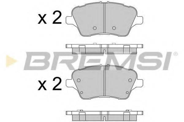 Комплект тормозных колодок, дисковый тормоз BREMSI BP3545