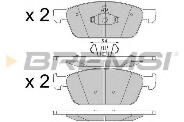 Комплект тормозных колодок, дисковый тормоз BREMSI BP3546
