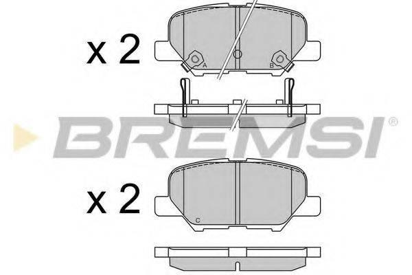 Комплект тормозных колодок, дисковый тормоз BREMSI BP3555
