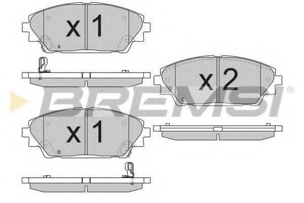 Комплект тормозных колодок, дисковый тормоз BREMSI BP3556