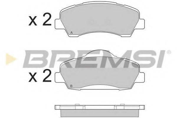 Комплект тормозных колодок, дисковый тормоз BREMSI BP3559