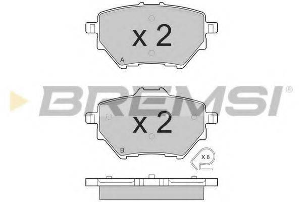 Комплект тормозных колодок, дисковый тормоз BREMSI BP3561