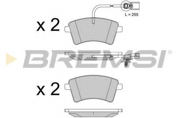 Комплект тормозных колодок, дисковый тормоз BREMSI BP3562