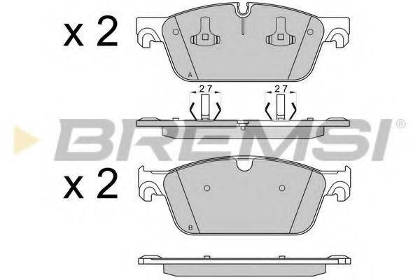Комплект тормозных колодок, дисковый тормоз BREMSI BP3565