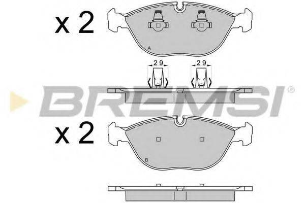 Комплект тормозных колодок, дисковый тормоз BREMSI BP3571
