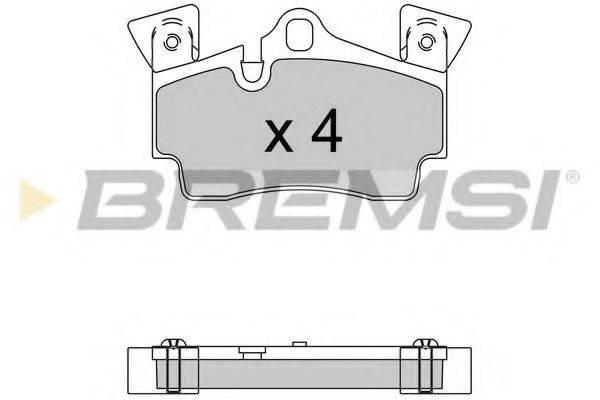 Комплект тормозных колодок, дисковый тормоз BREMSI BP3574