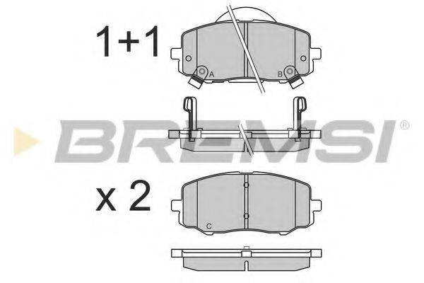 Комплект тормозных колодок, дисковый тормоз BREMSI BP3583