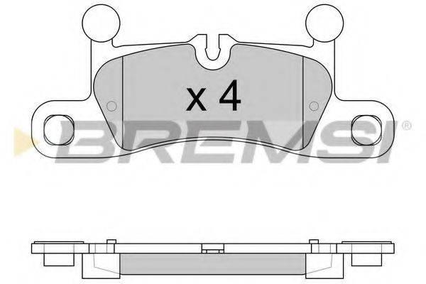 Комплект тормозных колодок, дисковый тормоз BREMSI BP3585