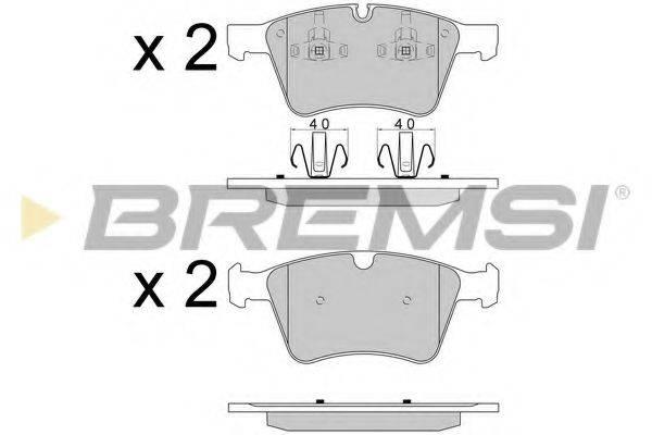 Комплект тормозных колодок, дисковый тормоз BREMSI BP3590