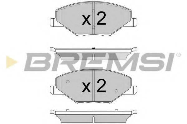 Комплект тормозных колодок, дисковый тормоз BREMSI BP3591