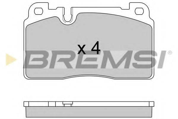 Комплект тормозных колодок, дисковый тормоз BREMSI BP3592