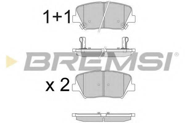Комплект тормозных колодок, дисковый тормоз BREMSI BP3596