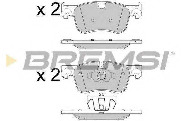 Комплект тормозных колодок, дисковый тормоз BREMSI BP3597