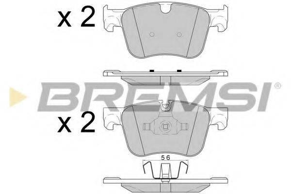 Комплект тормозных колодок, дисковый тормоз BREMSI BP3598
