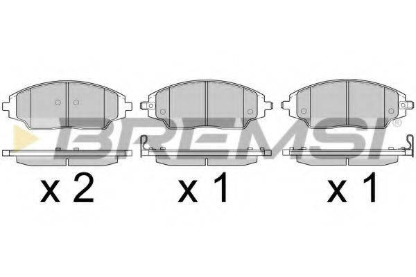 Комплект тормозных колодок, дисковый тормоз BREMSI BP3599