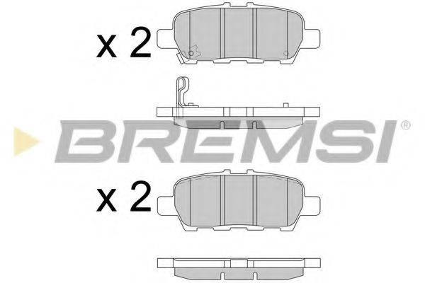 Комплект тормозных колодок, дисковый тормоз BREMSI BP3608