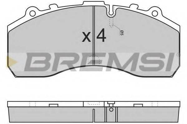 Комплект тормозных колодок, дисковый тормоз BREMSI BP7278