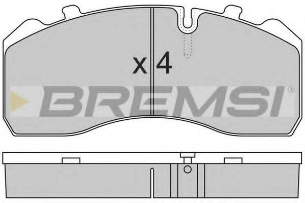 Комплект тормозных колодок, дисковый тормоз BREMSI BP7284
