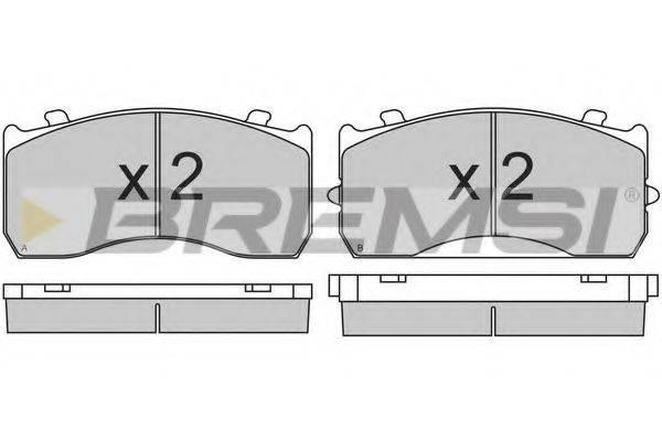 Комплект тормозных колодок, дисковый тормоз BREMSI BP7321