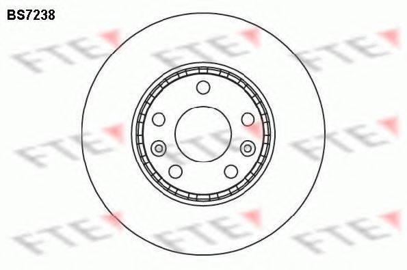 Тормозной диск FTE BS7238