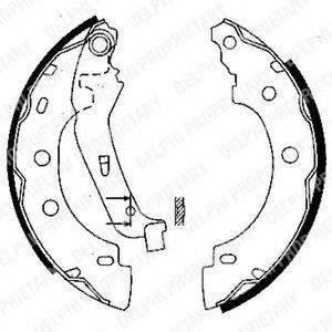 Комплект тормозных колодок DELPHI LS1842