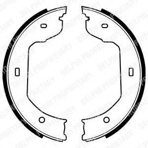 Комплект тормозных колодок, стояночная тормозная система DELPHI LS1920