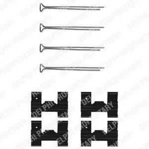 Комплектующие, колодки дискового тормоза DELPHI LX0023