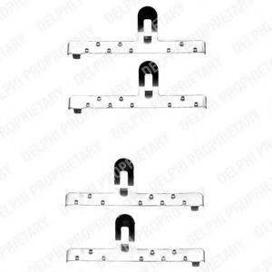 Комплектующие, колодки дискового тормоза DELPHI LX0071