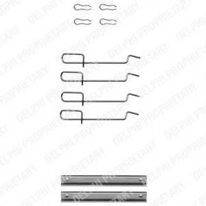 Комплектующие, колодки дискового тормоза DELPHI LX0113