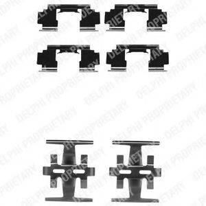 Комплектующие, колодки дискового тормоза DELPHI LX0130