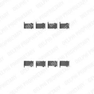 Комплектующие, колодки дискового тормоза DELPHI LX0226
