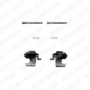 Комплектующие, колодки дискового тормоза DELPHI LX0270