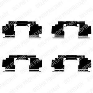 Комплектующие, колодки дискового тормоза DELPHI LX0301