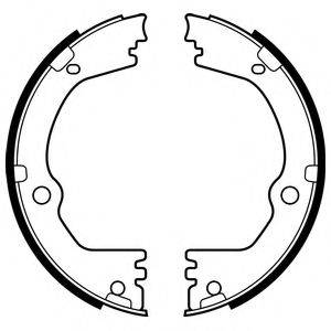 Комплект тормозных колодок, стояночная тормозная система DELPHI LS2090