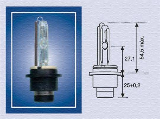 Лампа накаливания, фара дальнего света; Лампа накаливания, основная фара; Лампа накаливания MAGNETI MARELLI 002541100000