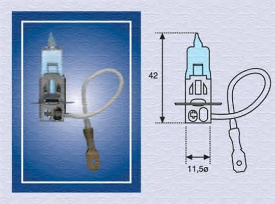 Лампа накаливания, противотуманная фара; Лампа накаливания MAGNETI MARELLI 002604100000