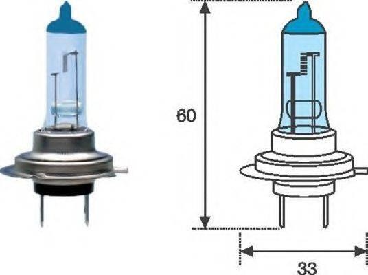 Лампа накаливания, фара дальнего света; Лампа накаливания, основная фара; Лампа накаливания, противотуманная фара; Лампа накаливания MAGNETI MARELLI 002603100000