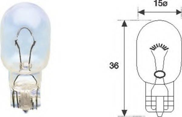 Лампа накаливания, задний гарабитный огонь; Лампа накаливания MAGNETI MARELLI 002052000000